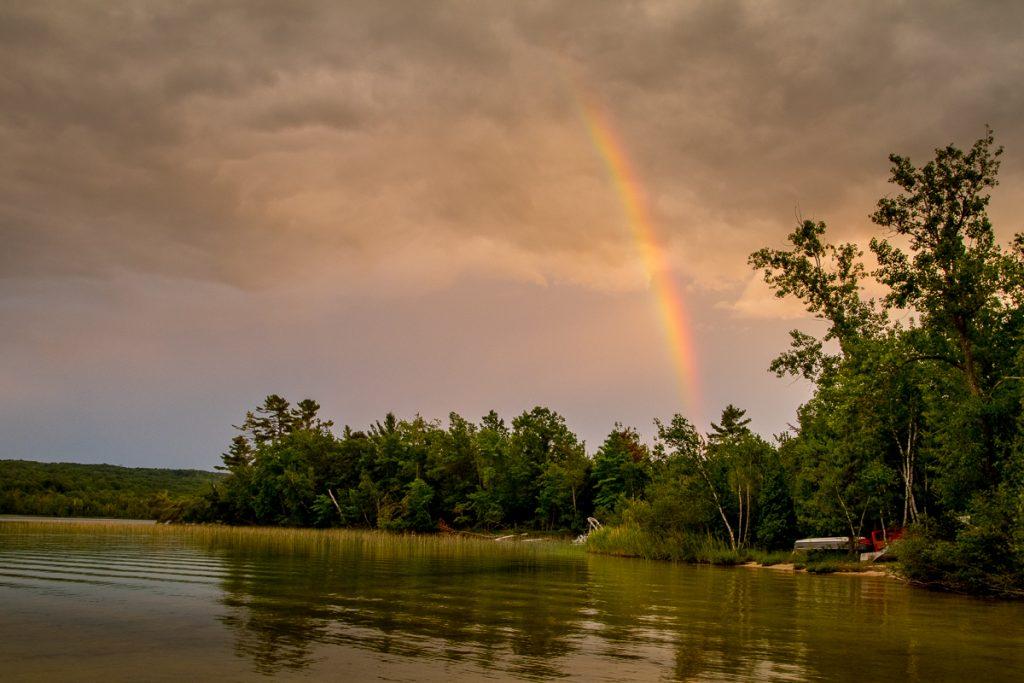 Evening Rainbow on Duck Lake