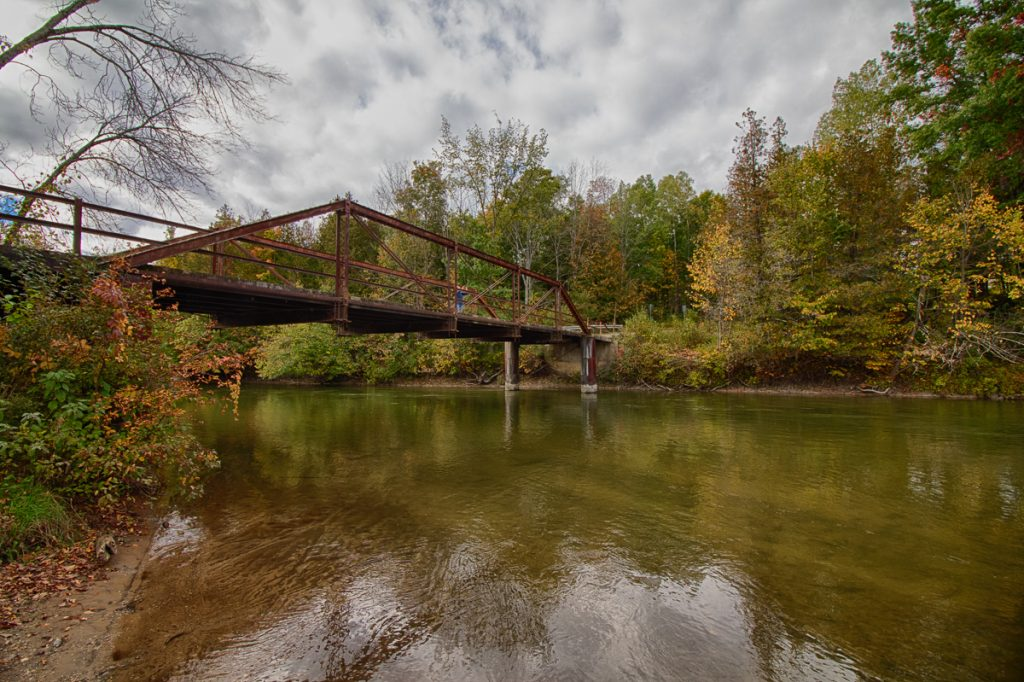 Old Iron Bridge over Manistee River