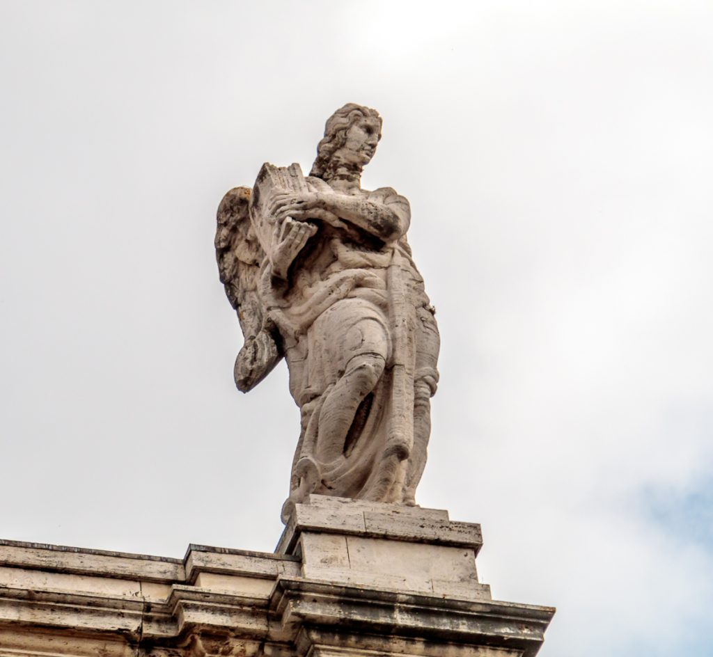 Statue on top of Santa Maria degli Angeli