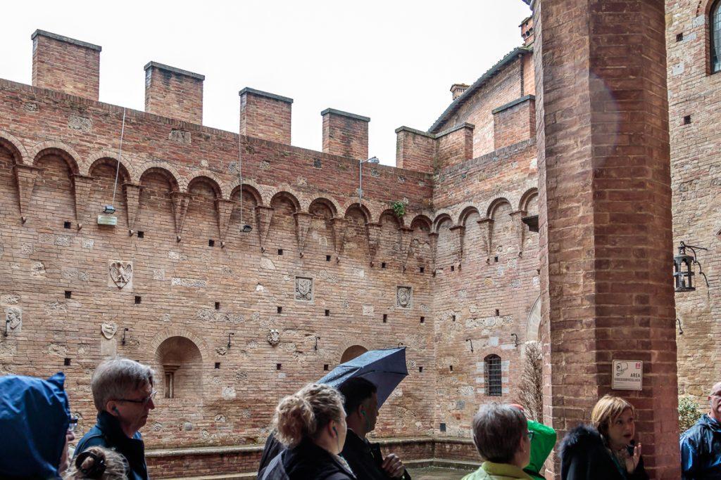 Courtyard at Palazzo Chigi Saracini