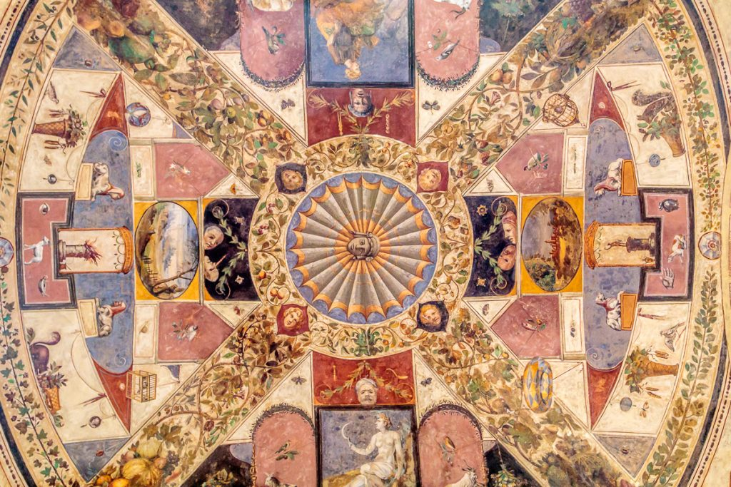 Ceiling of Arch at Palazzo Chigi Saracini