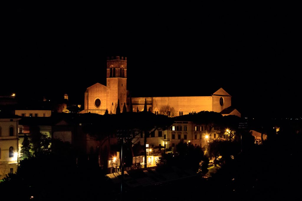 Basilica Cateriniana San Domenico at Night