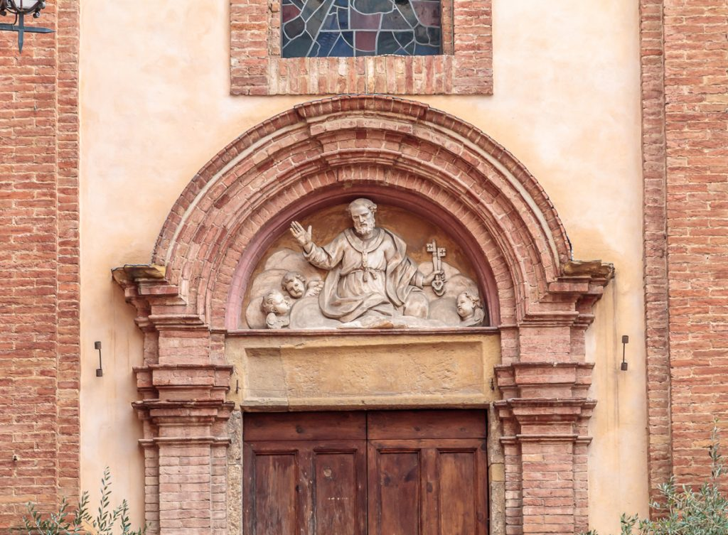 Entrance to San Pietro alle Scale