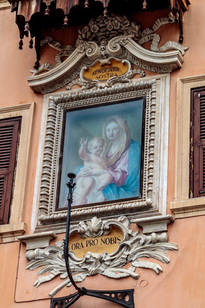 Outside Sant'Agnese