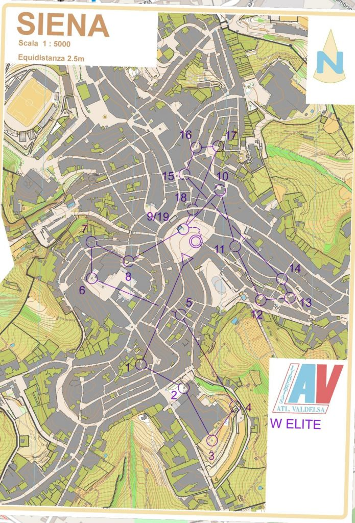 Siena Orienteering Map