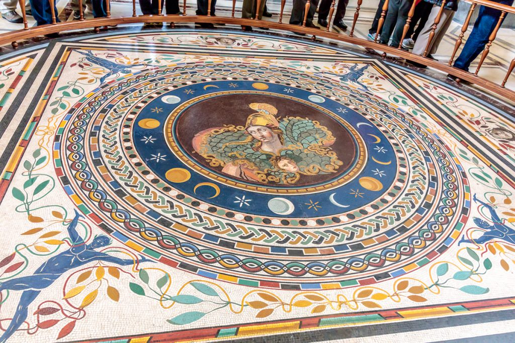 Mosaic Floor of Round Room