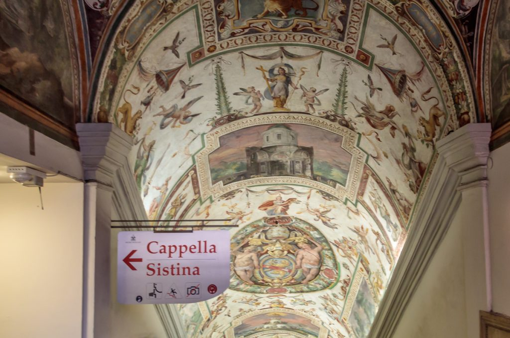 Entrance to Capella Sistina