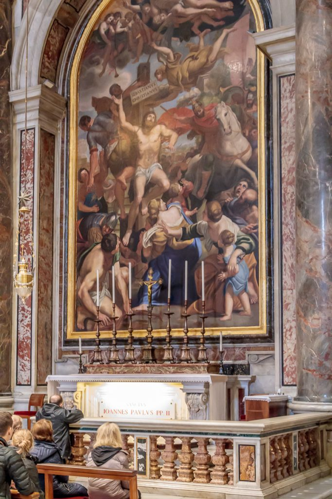 Alter above Tomb of John Paul II