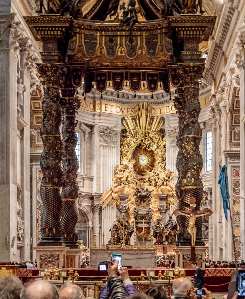 The Papal Altar & Baldacchino and Alabaster Dove Window