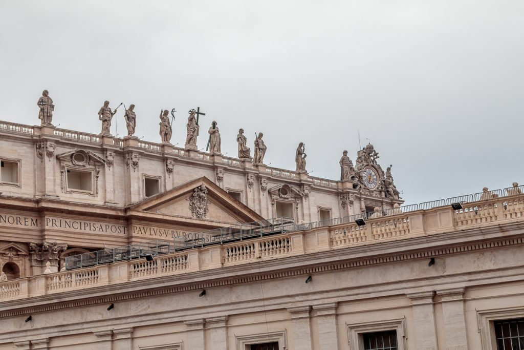 Statues on Facade of St. Peter's