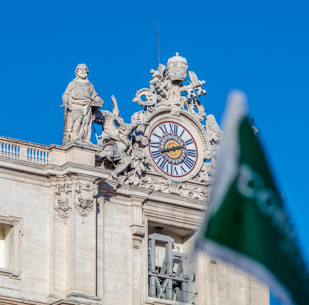 Right Clock on Facade of St. Peter's