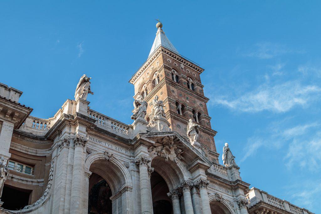 Facade of Basilica di Santa Maria Maggiore