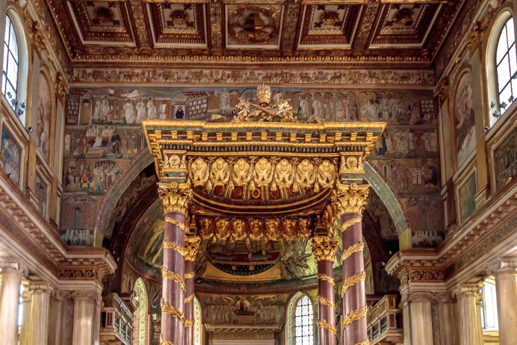 Baldacchino at Santa Maria Maggiore