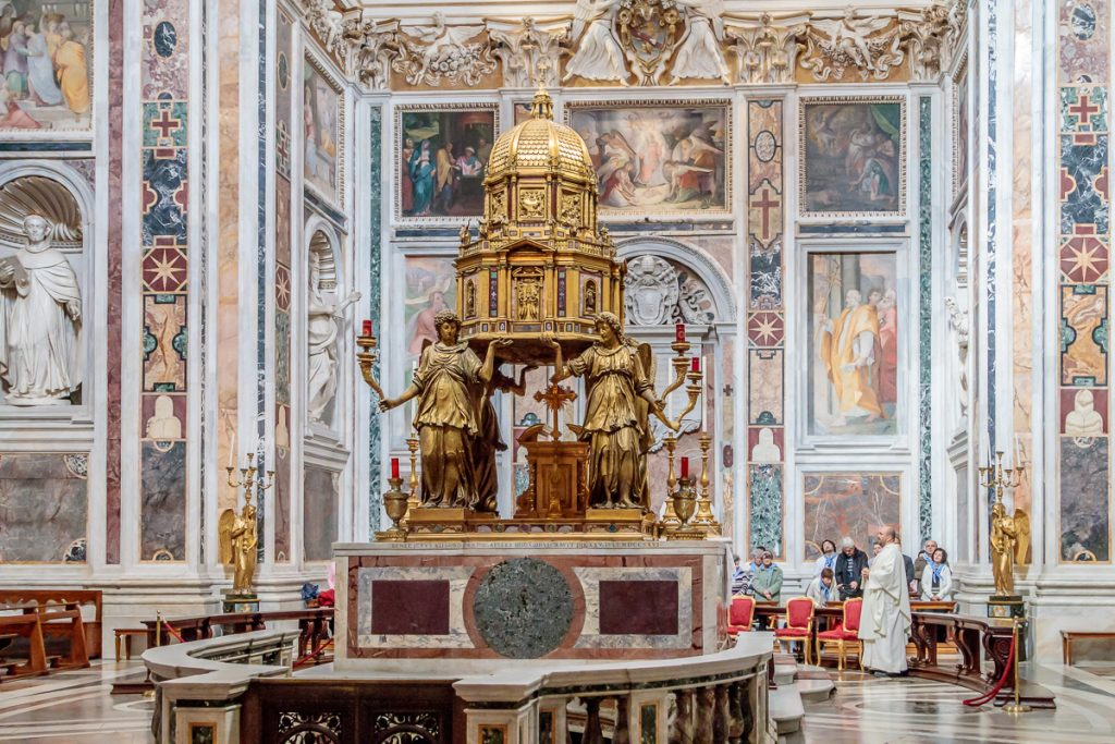 Tabernacle in the Sistine Chapel of Basilica di Santa Maria Maggiore