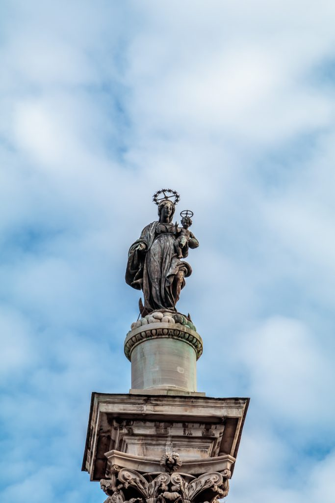 Mary atop the Obelisk
