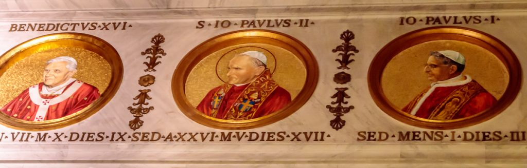 Recent Papal Medallions