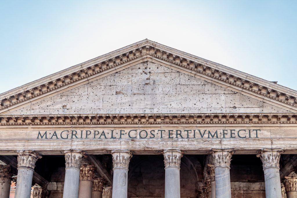 Inscription on Pantheon