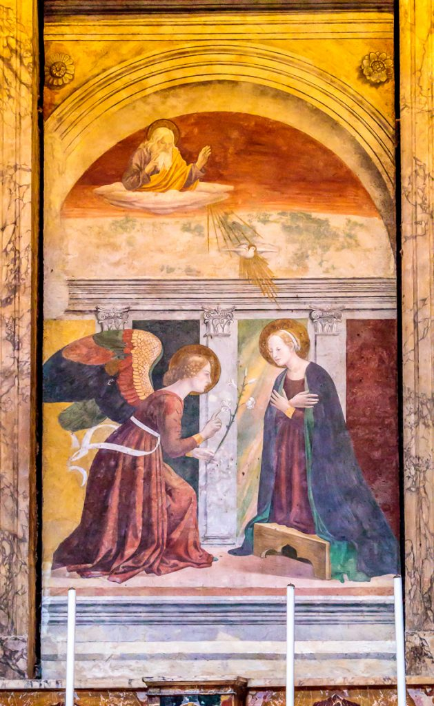 The Annunciation by Melozzo da Forlì