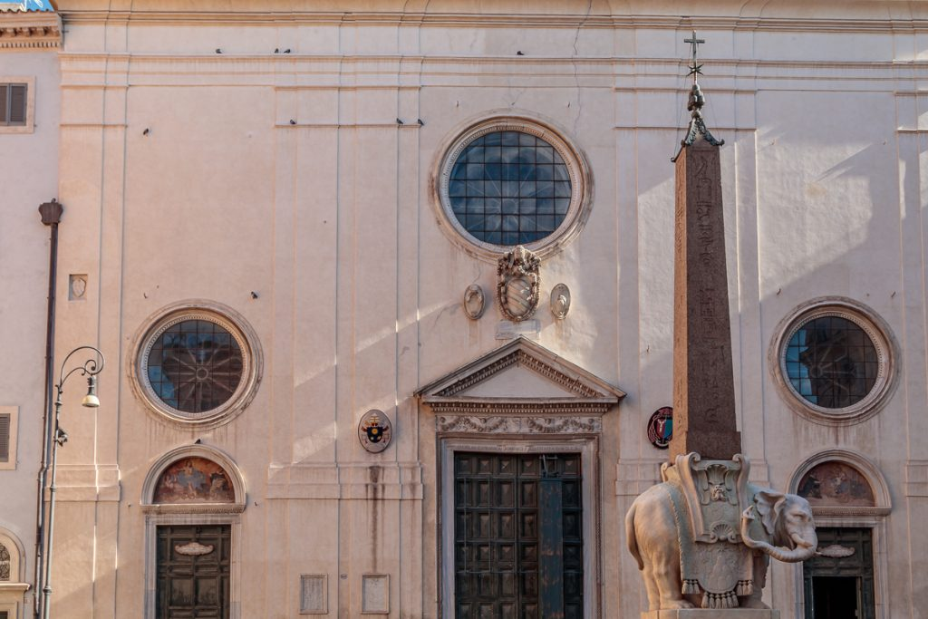 Elephant and Obelisk in Front of Santa Maria sopra Minerva