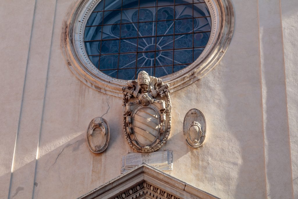 Papal Emblem avove Entrance