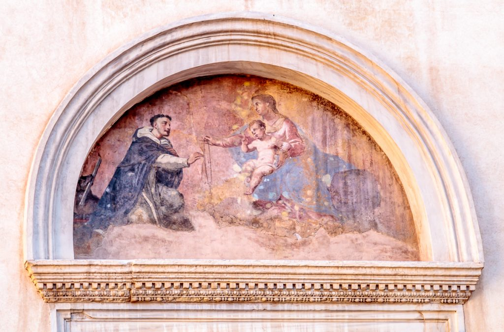 St. Dominic Receiving the Rosary from Mary