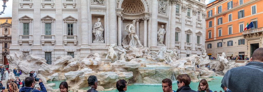 Central Fugures of Trevi Fountain