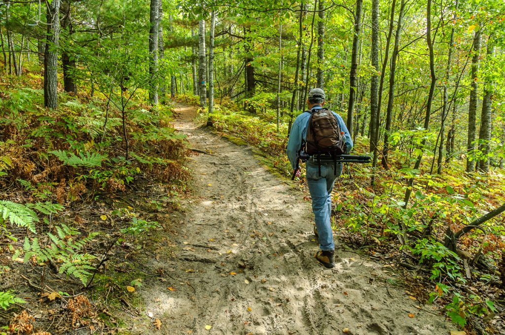 Mark Walking through Woods