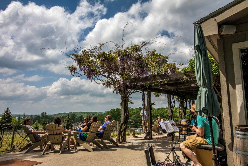 Bowers Harbor Vineyards - Patio