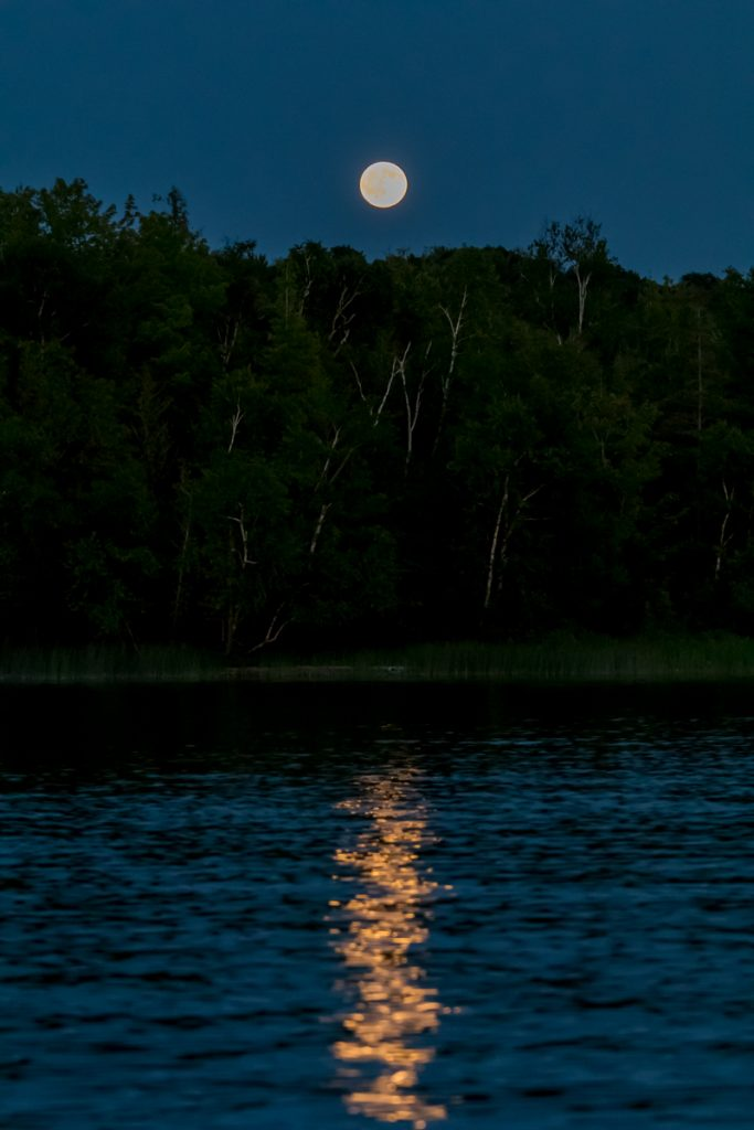 Full Moon and Reflection