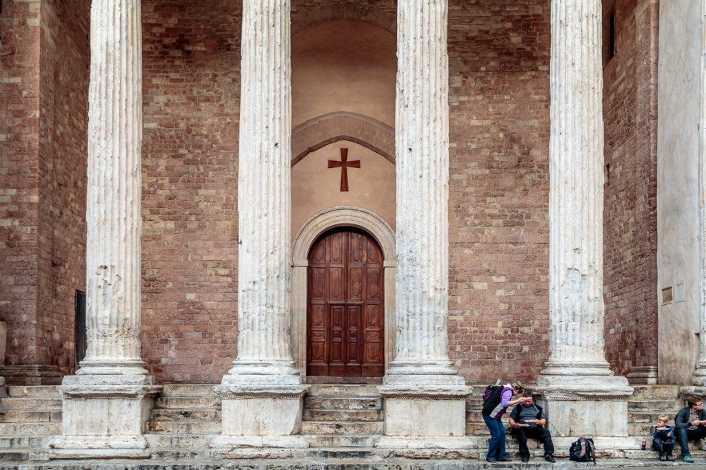 Pillars at Temple of Minerva