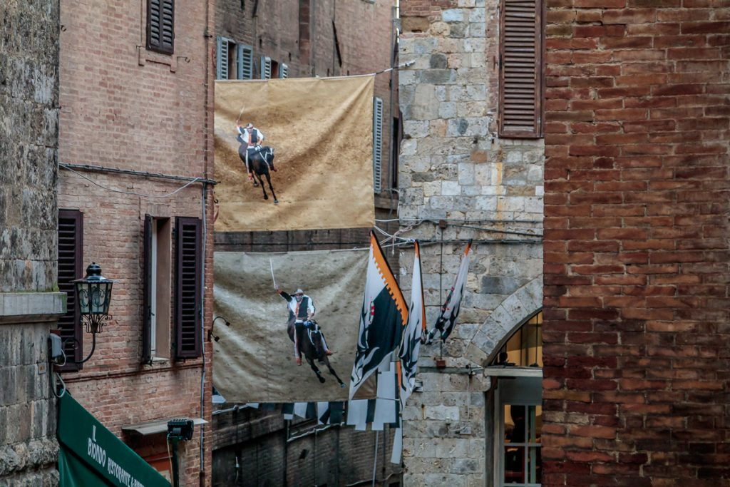 Flags from the Palio