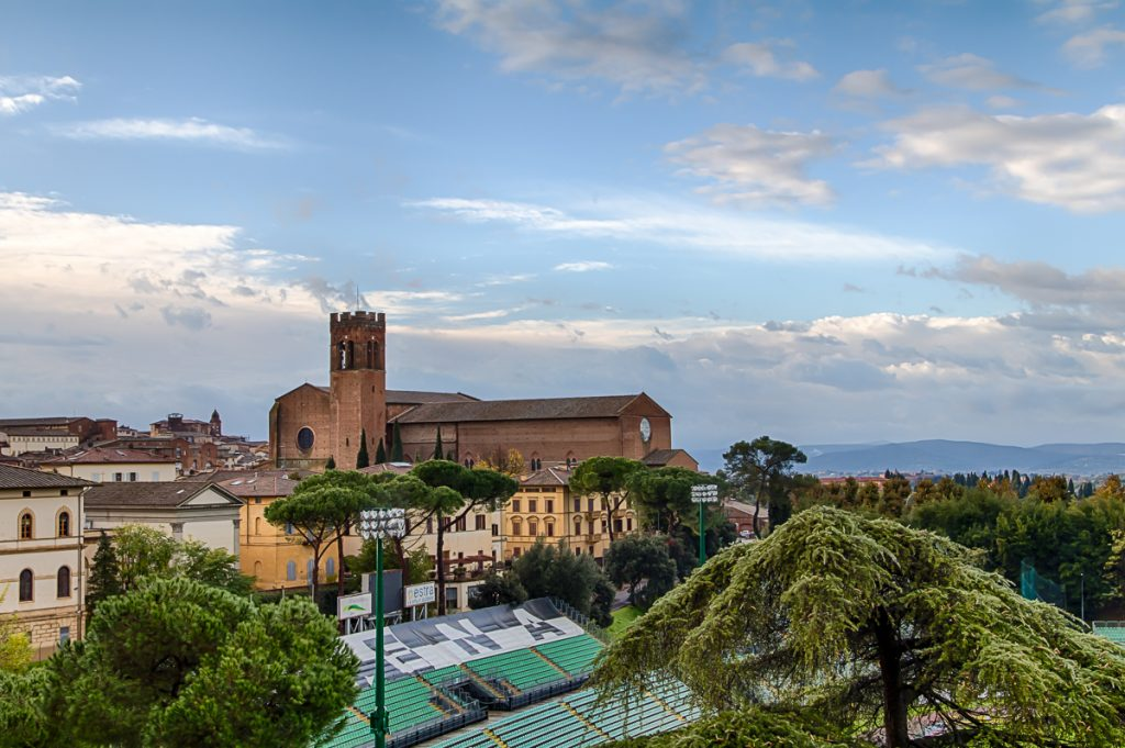 Basilica Cateriniana San Domenico from our Hotel Window