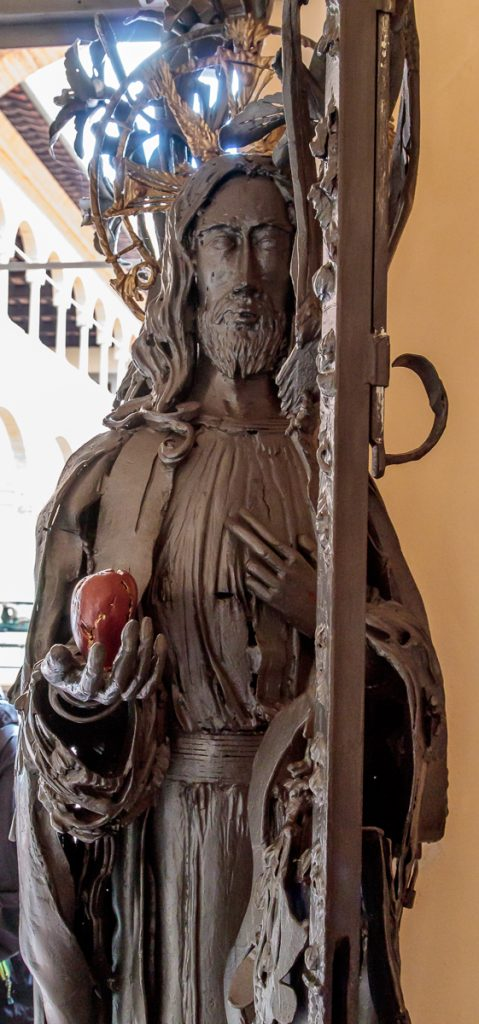 Doors to Courtyard - Jesus