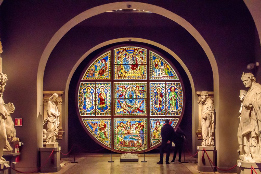 Stained Glass Window in Duomo Museum