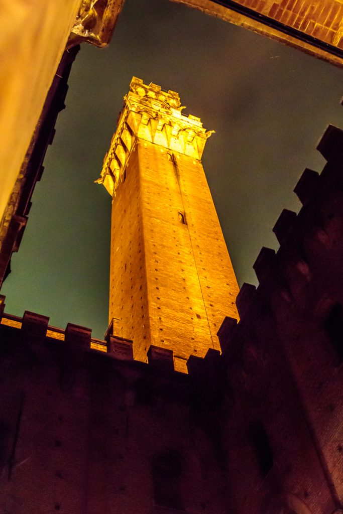 Torre del Mangia at Night