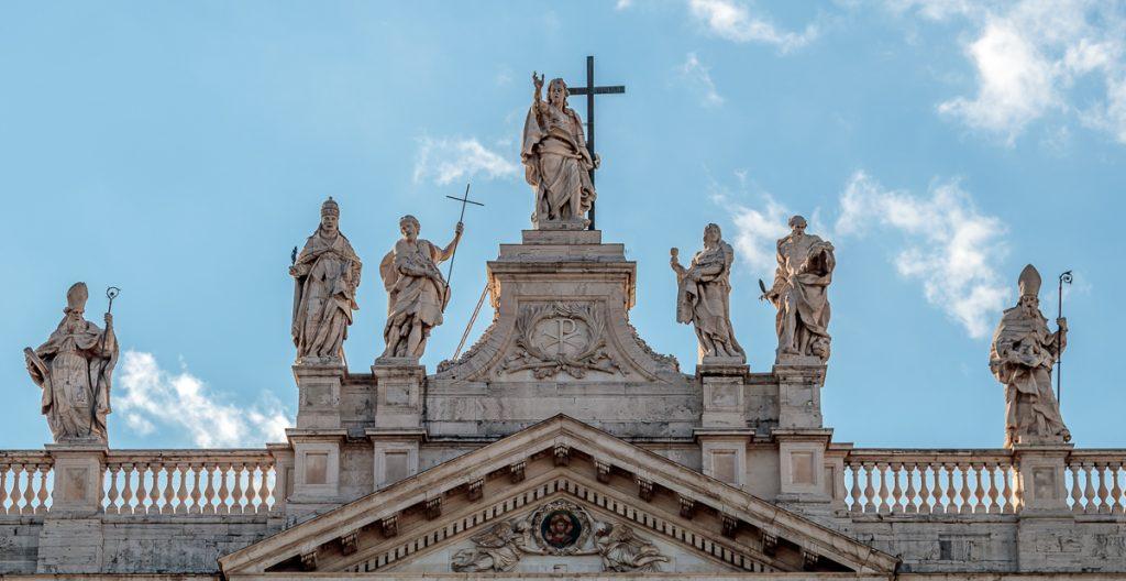 Statues on the Basilica of Saint John Lateran