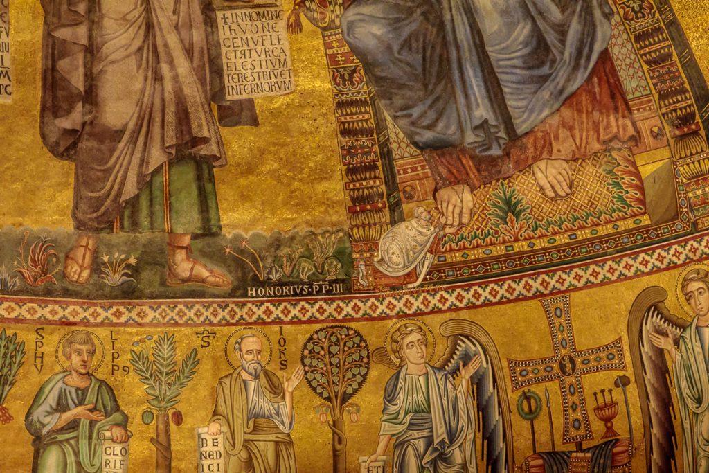 Honorius III Depicted at the Feet of Jesus