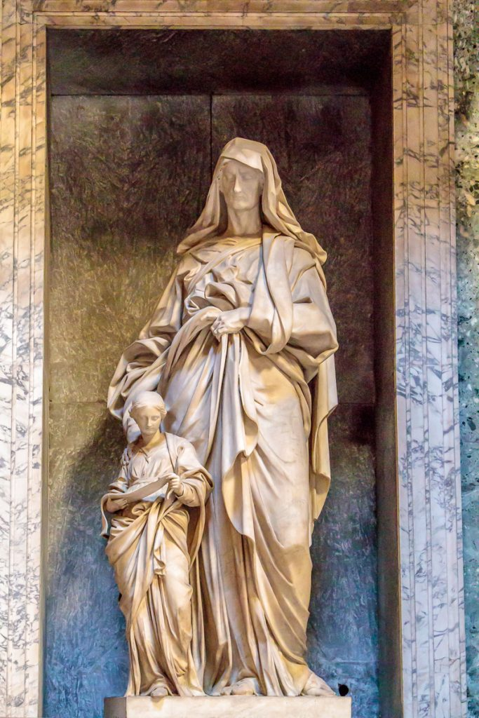 St. Anne and the Blessed Virgin by Il Lorenzone
