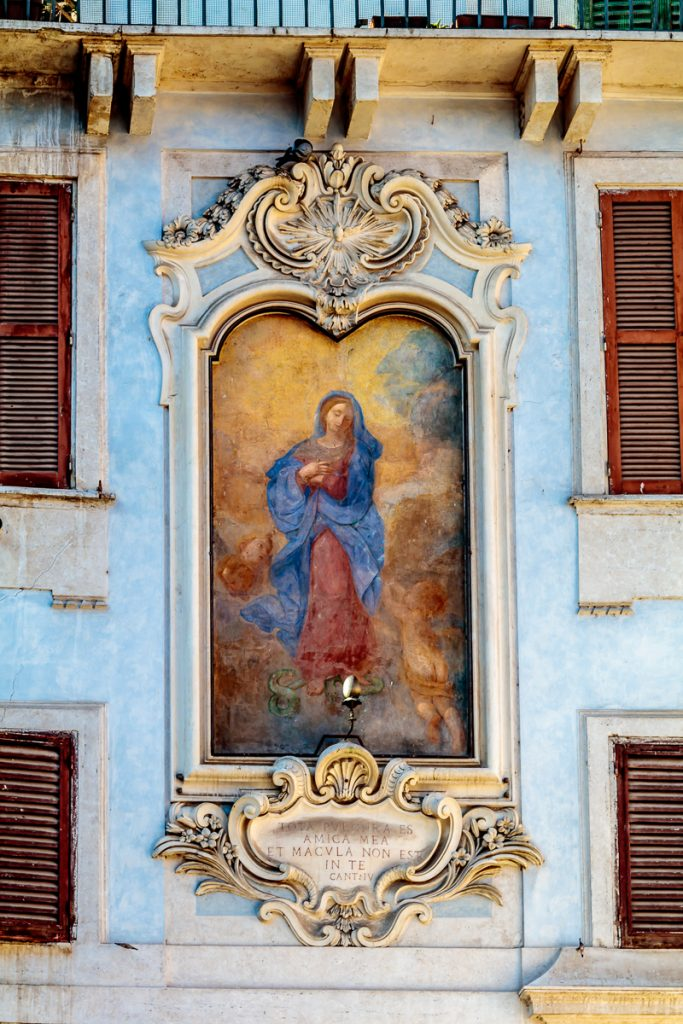 Painting of Mary Outside the Pantheon