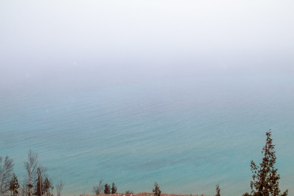 Sky Melting into Lake Michigan