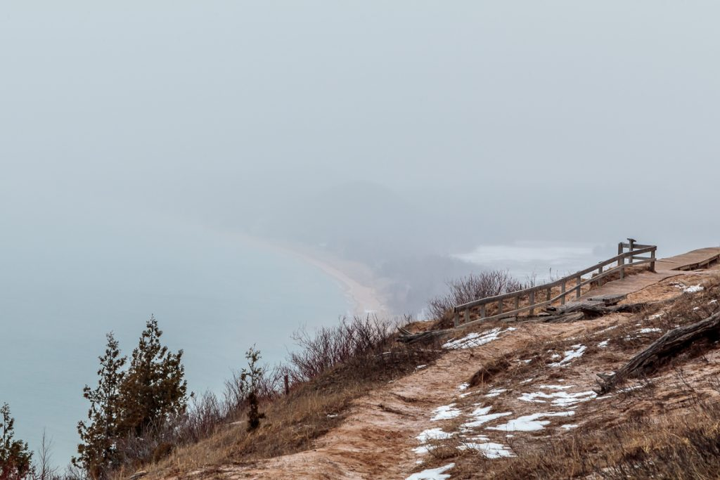 View of Sleeping Bear from Empire Bluffs Trail