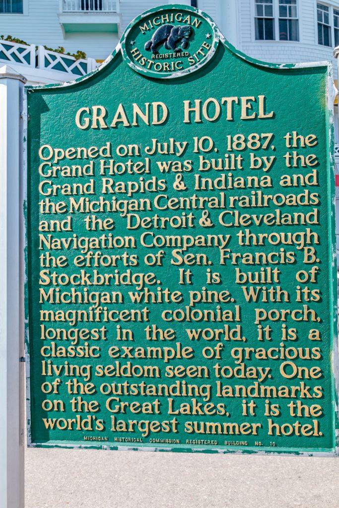 Grand Hotel Marker