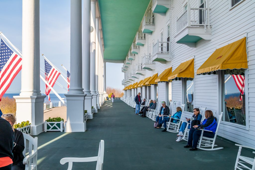 Porch at Grand Hotel