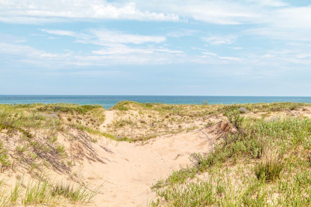 Dunes on way to Lake Michigan