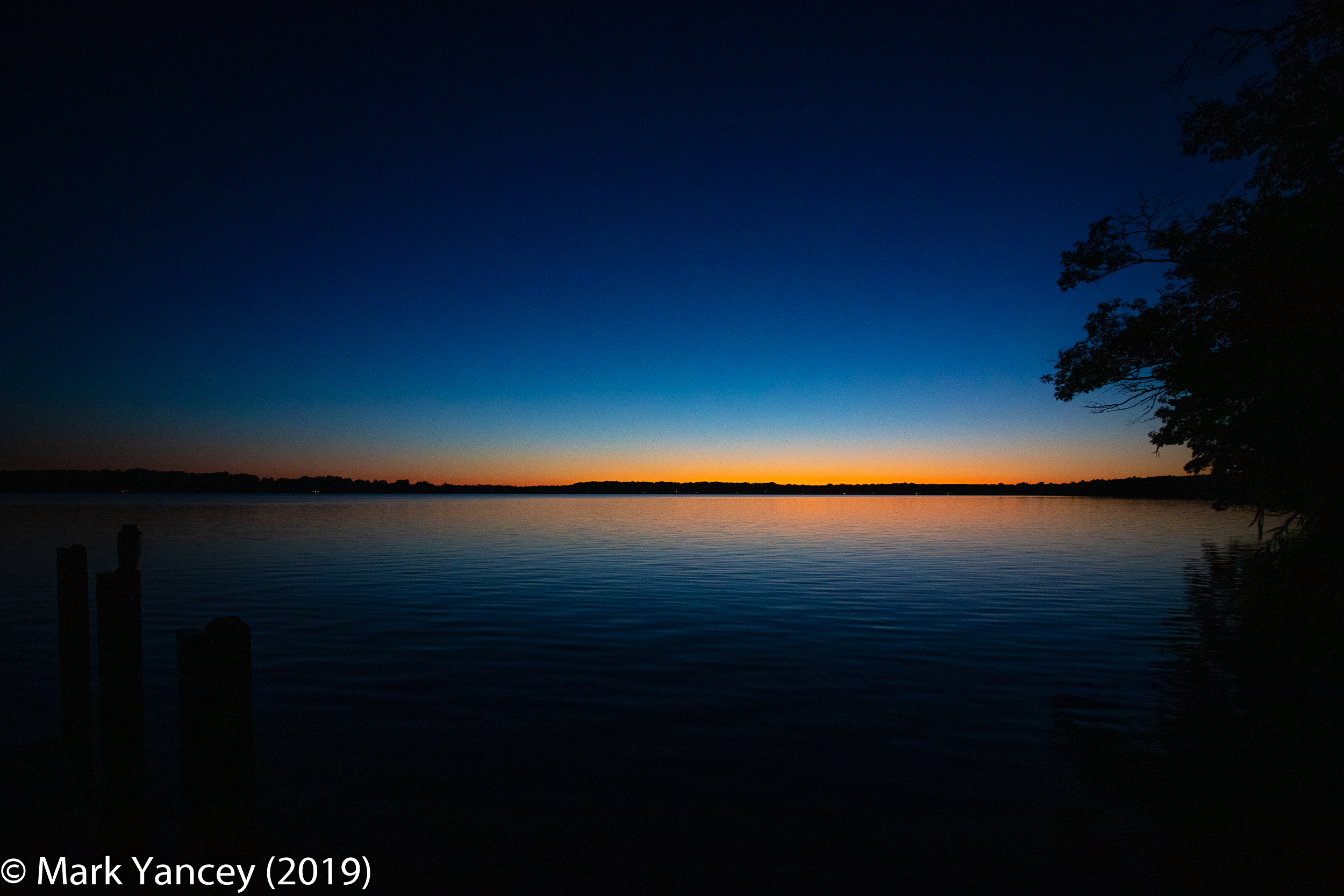 Sunset, Green Lake, August 2019