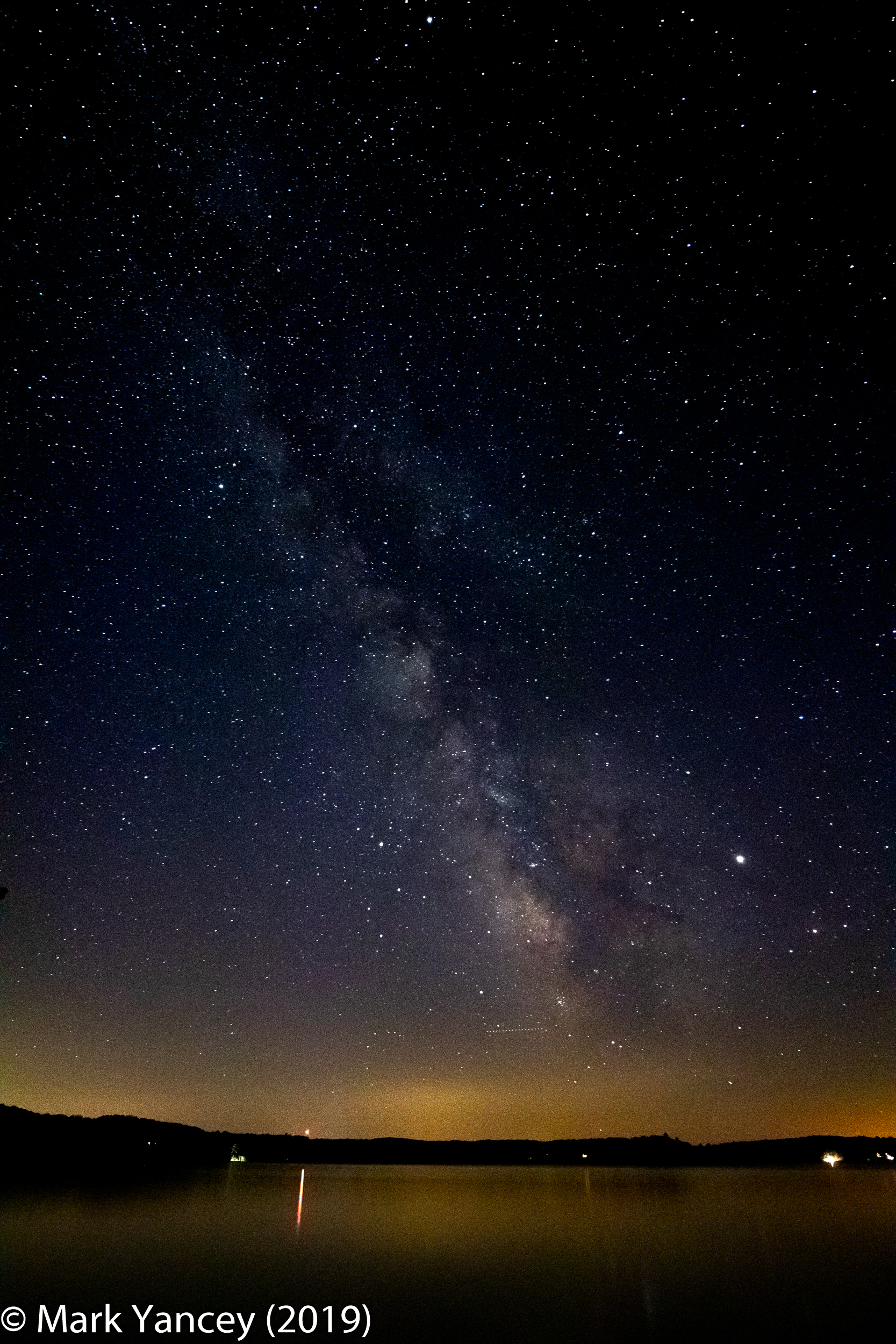 Milky Way, Green Lake, August 2019